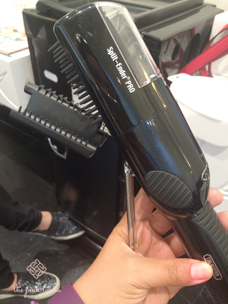 One of their latest hair gadgets used to treat split ends.