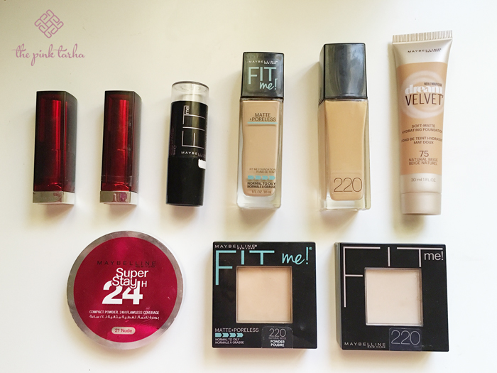 My Maybelline collection. Always my go-to makeup.